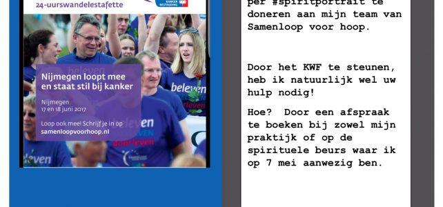 Indhira sponsort KWF sponsorloop voor hoop Nijmegen 2017 #teambeatit